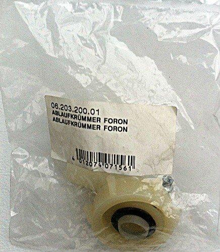 Ablaufkrümmer Ablauf Krümmer für Anschluss Foron Waschmaschine Ablaufschlauch Art. 06.203.200.01