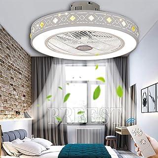 Ventilador De Techo Con Iluminación, Luz De Ventilador Led Con Control Remoto Lámpara De Ventilador Regulable Sala De Estar Moderna Dormitorio Habitación De Niño Decoración Lámpara De Techo (50CM 80W)
