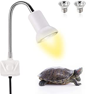 None/Brand Seven Master 25W Reptile Heat Lamp, Basking Spot Lamp for Aquarium with Holder, UVA UVB Clamp Lamp with 360° Ro...
