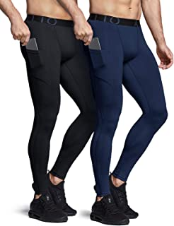 ATHLIO Men's (Pack of 1, 2) Compression Pants Running Tights Workout Leggings, Cool Dry Technical Sports Baselayer