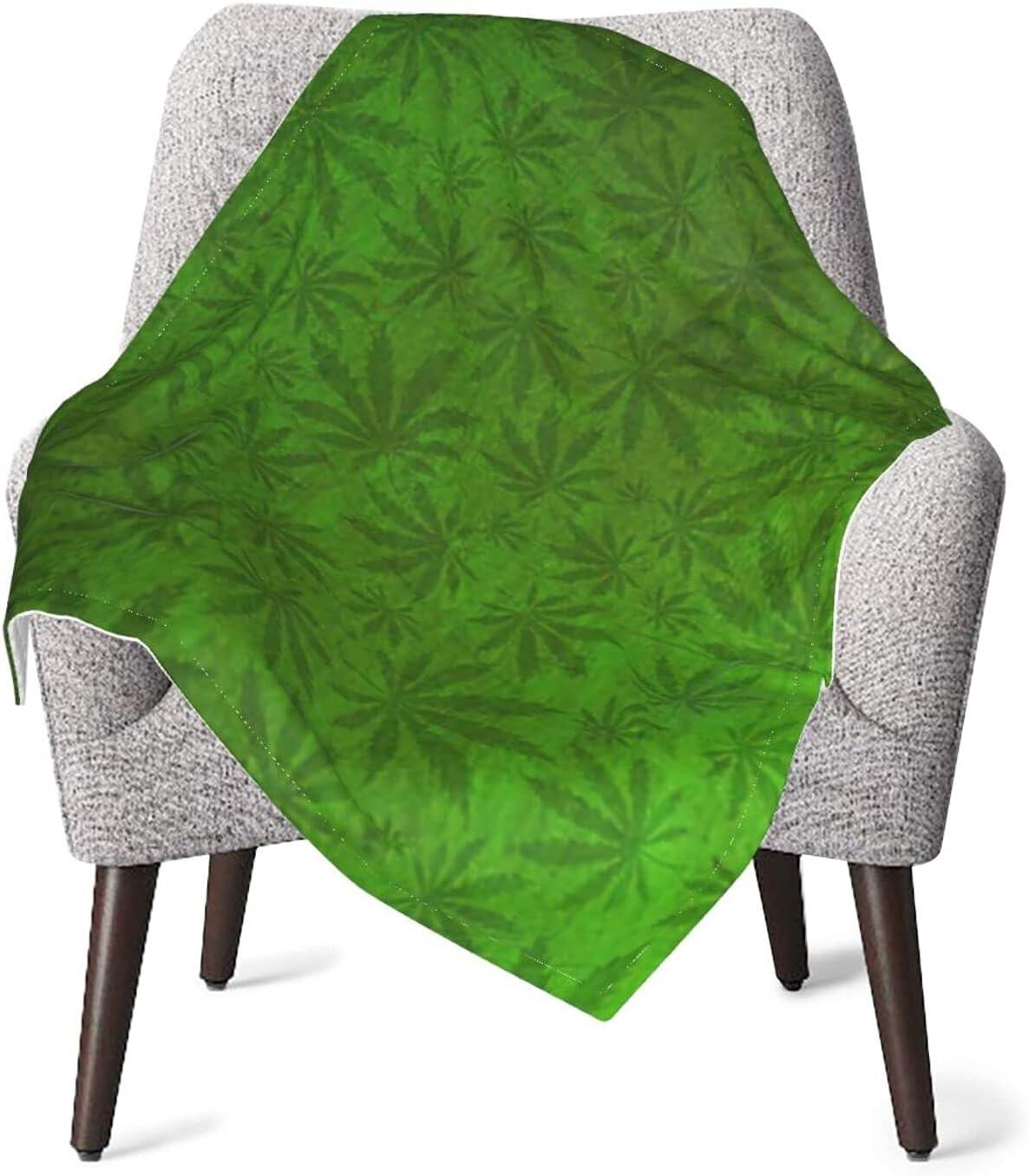 Warm Baby Blanket Max Louisville-Jefferson County Mall 61% OFF Weed Leaf Green Marijuana Grunge Plant Newborn