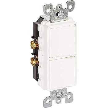 Leviton R02 5634 W Two Single Pole Switches Wall Light Switches Amazon Com