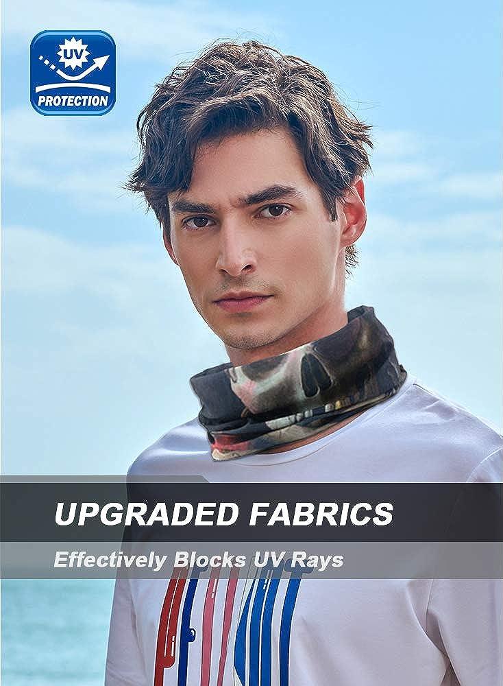 Bandana for Rave Face Mask Dust Wind UV Sun Neck Gaiter Tube Mask Headwear