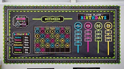 Teacher Created Resources Chalkboard Brights Straight Border Trim (5619) Photo #4