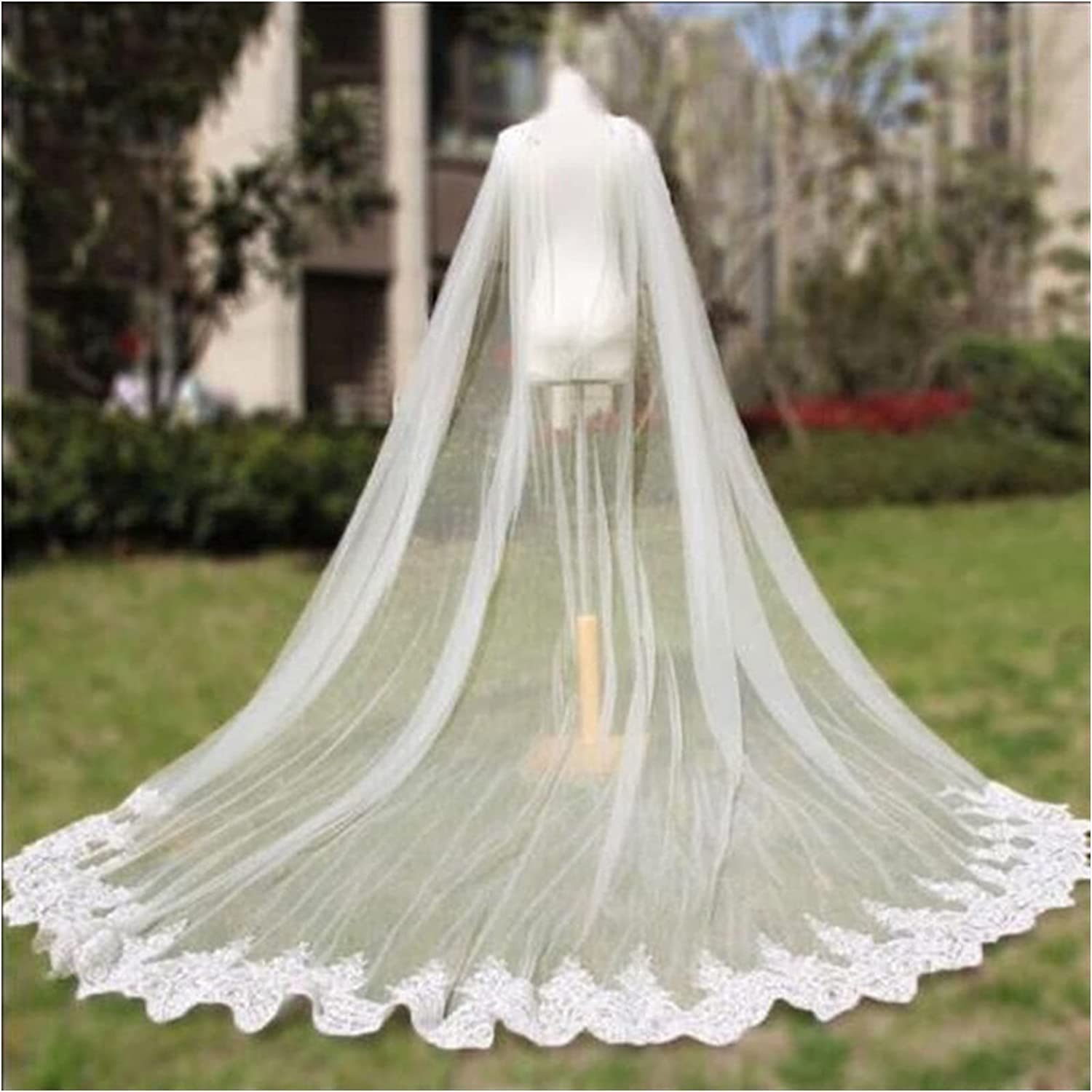 SIFDNRGNFN Max 47% OFF List price Tulle Cathedral Length Wedding Bridal Veil Cape Cloak