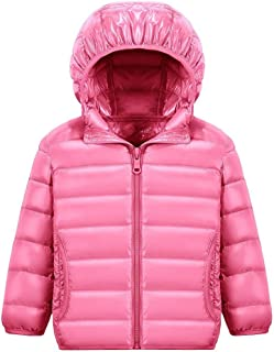 Wxian Unisex Children Lightweight Down Coat Warm Puffer Jacket with Hood