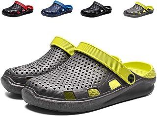 eccbox Unisex Garden Clogs Womens Mens Quick Drying Beach Sandals Comfort Slip On Casual Water Shoes Indoor Outdoor Summer Slippers
