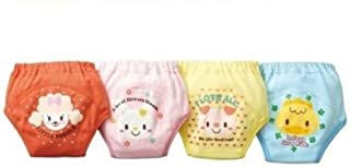 Losorn (Tm) 4 X Baby Toddler Girls Cute Pack of 4 Layers Potty Training Pants Reusable (90,  A1)