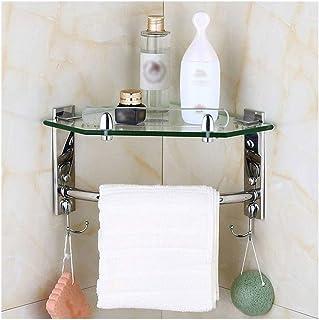 Antirouille Douche d'angle en acier inoxydable multi-couches Salle de bains tablettes de rangement porte-serviettes, Organ...