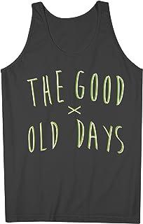 The Good Old Days Retro Old School Hippie おかしいです 90s 男性用 Tank Top Sleeveless Shirt