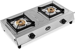 Sunflame SHAKTI 2B SS 2 Burner Gas Stove (Manual Ignition, Silver)