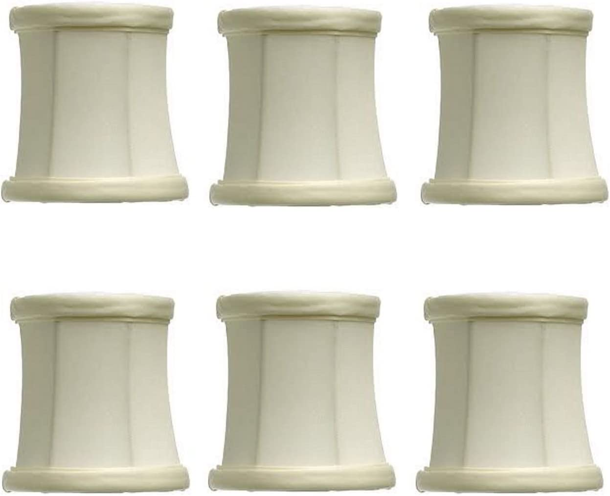 Upgradelights Eggshell Silk Mini Today's only Drum On Chandelier Inch 3 Super-cheap Clip