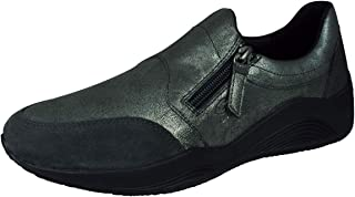 Geox Womens Sneakers D Omaya A Leather Casual Zipped Shoes