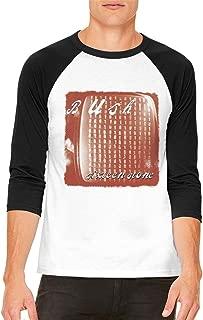 Bush Sixteen Stone Men's Popular Comfort Raglan Sleeves Baseball T Shirt Black