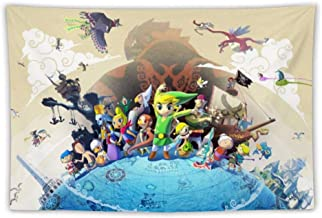 Harvey Rhodes Tapestries,Wall Art, Wall Decoration/Poster,The Legend of Zelda Wind Waker Link, for Bedroom Living Room Dorm, Window Curtain Picnic Mat,100x150cm150x130cm