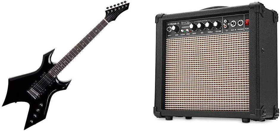 Rocktile MG-3008 WarheadGuitarra eléctrica + Scream-15Amplificador para guitarra