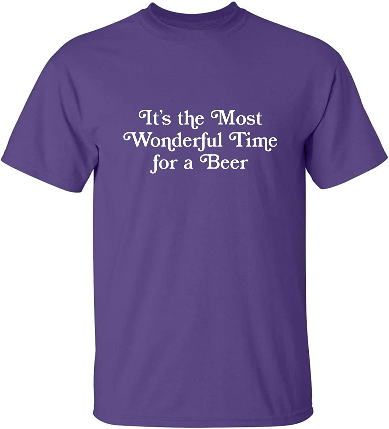 It's The Most Wonderful Time Adult T-Shirt in Purple - XXXX-Large