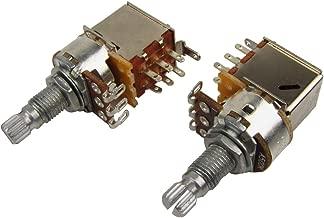 Musiclily 500K Long Split Shaft Pots Audio Taper Push Pull Potentiometers(Pack of 2)