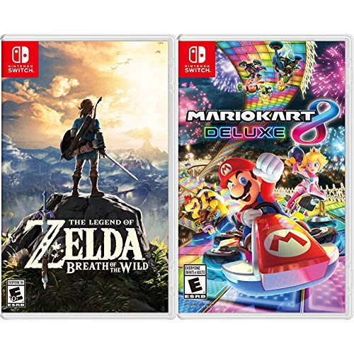 Mario Kart 8 Deluxe - Nintendo Switch Bundle with The Legend of Zelda: Breath of the Wild - Nintendo Switch