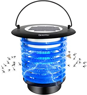 Diaotec Bug Zapper Solar Power Wireless Insect Mosquito Killer Electronic Pest Control Led Lamp for Camping, Hiking and Fishing Night Light