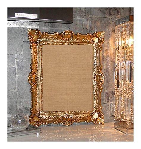 Lnxp BILDERRAHMEN BAROCKRAHMEN mit Glas 56x46cm RECHTECKIG REPRO Bilder für 30x40cm oder 40x30 cm BAROCK ANTIK (Gold)