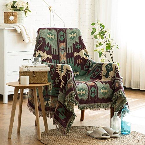 DOOT Sofá Funda impresión Manta de sofá Guardapolvo Cubierta del sofá Antideslizante Máquina Lavable -A W230xL330cm(91x130inch)