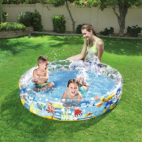 Piscina Piscina Swim Center Family Pool, Piscina Vinile, Piscina for Famiglie, Piscina Ovale, casa Piscina 152 * 30 CM