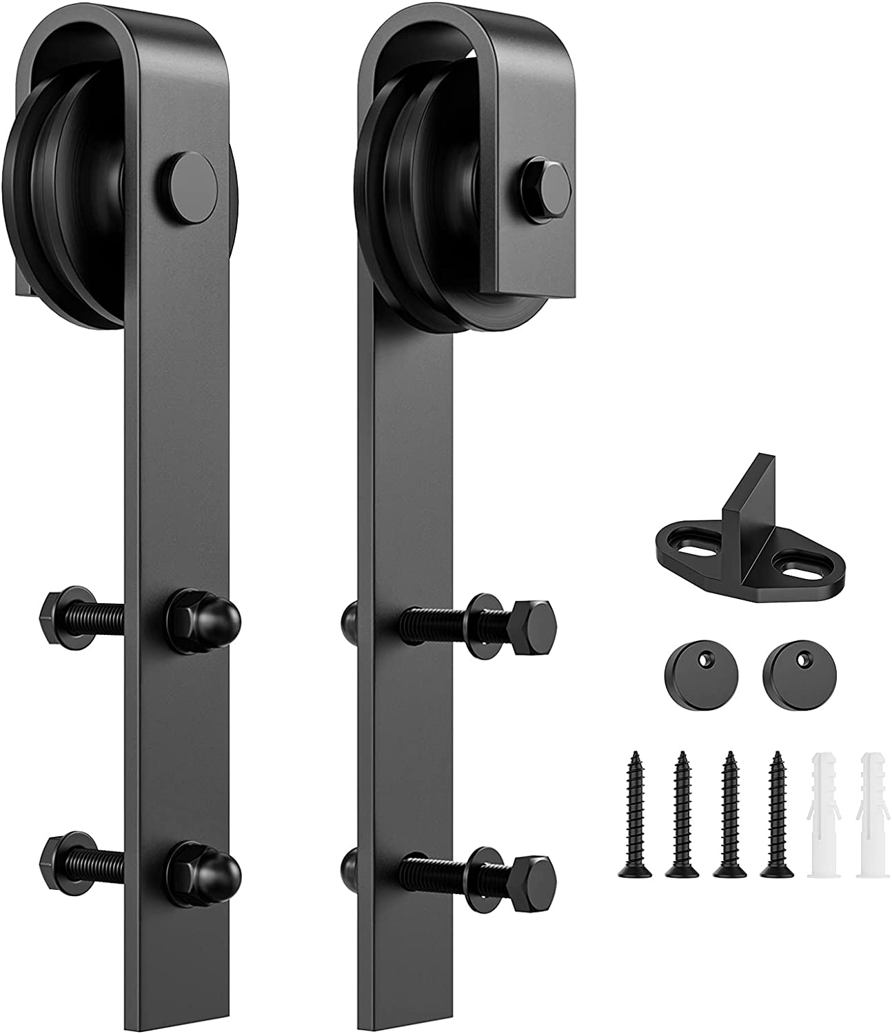 SEAL limited product Ranking TOP17 Homlux Sliding Barn Door Hardware Rollers 2pcs Hangers Compatibl