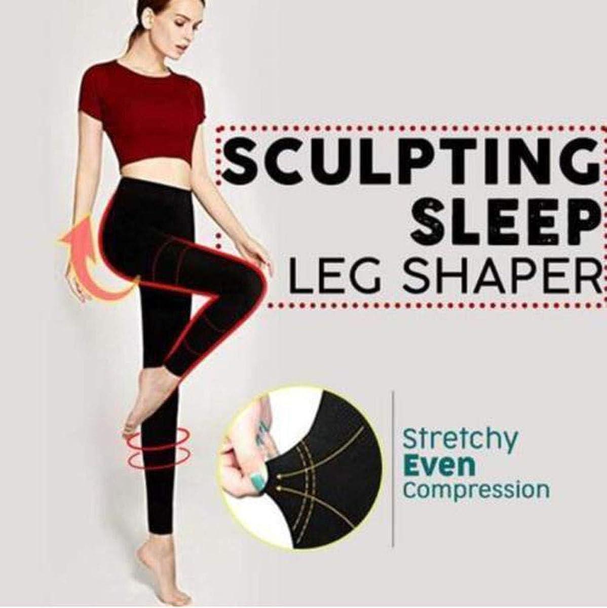 EVERMARKET Sculpting Sleep Leg Shaper Pants Legging Socks Women Girls Body Shaper Knitting Panties (L)
