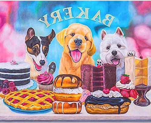 barato en línea XIGZI Bricolaje Pintura Diamante 5D Perro Perro Perro Gourmet Hecho A Mano Punto de Cruz Decoración para El Hogar Sin Marco  Todos los productos obtienen hasta un 34% de descuento.