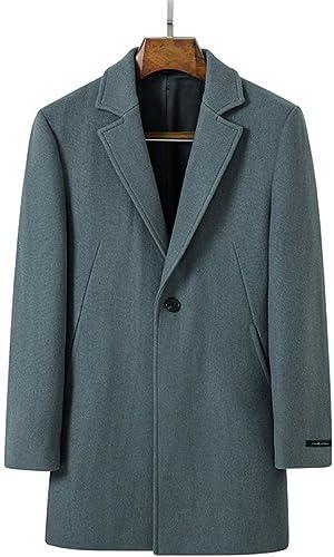 Fvbuhhi Un Manteau de Fourrure, Un Manteau de Fourrure, Un Manteau d'hiver, Un Manteau de Fourrure, Un Coupe - Vent imperméable,gris - Bleu,l