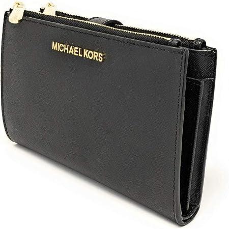 Michael Kors 35F8TVW0L-001, Accesorio de viaje- Billetera para Mujer, Saffiano negro, Einheitsgröße