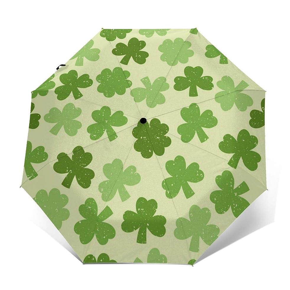 子豚広告するカプセル緑のクローバーヴィンテージ傘自動開閉防水防風キャノピー