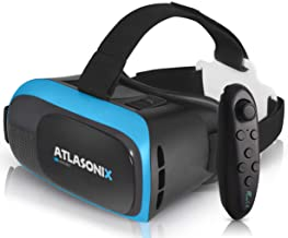 VR Headset Compatible with iPhone and Android Phones | VR Set Incl. Remote Control for Android Smartphones | 3D Virtual Re...