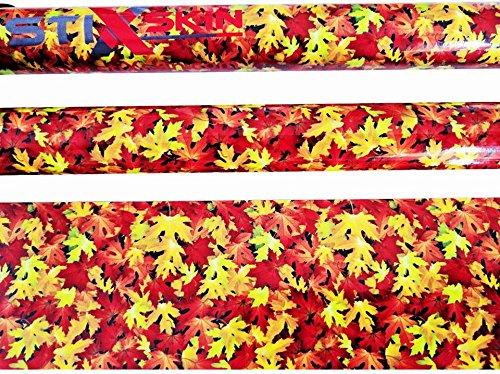stiXskin 2 feuilles d'automne décoratives en vinyle pour la marche nordique, la randonnée, le trekking | Designs pour hommes, femmes et enfants | Leki, Exel, Gabel, Fizan, Swix |