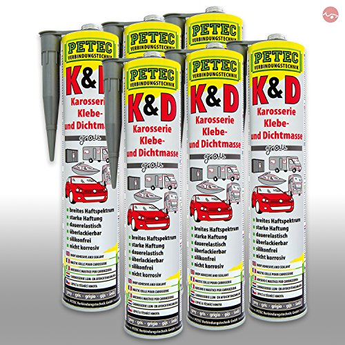 Petec_bundle 6X PETEC Kleben und Dichten GRAU Kleber 310 ML 94630