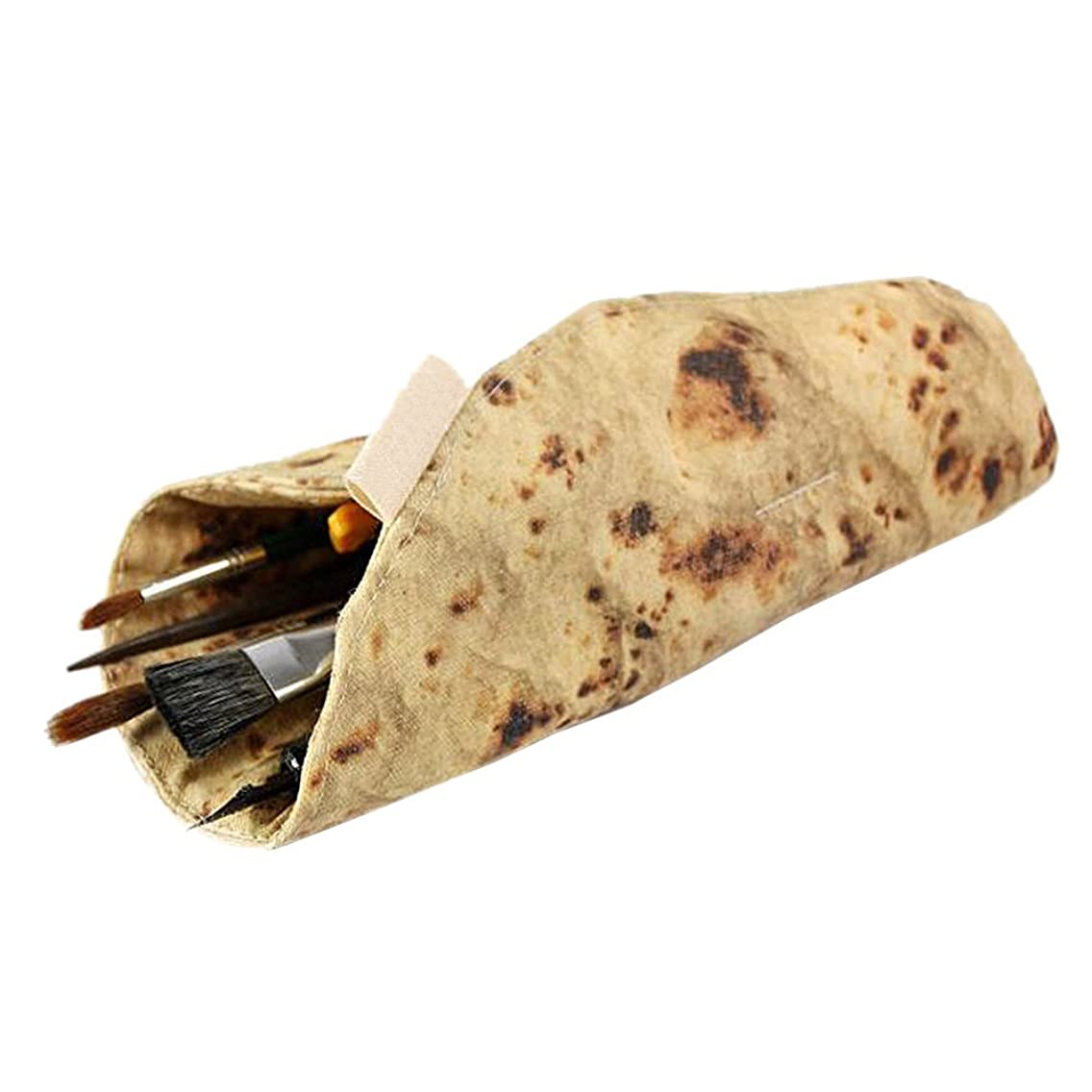 ZTL Creative Tortilla Pen Pencil Case Funny Burrito Stationery Pencil Pouch Pen Holder Makeup Case Bag