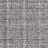 Mantelstoff Glencheck weich – schwarz/weiss — Meterware