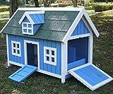 Poulailler pour poules avec maison pour nids,...