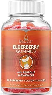Elderberry Gummies with Vitaminc C, Propolis, Echinacea. Max Strength 200MG - Sambucus Black Elder Immune Support Vitamins...