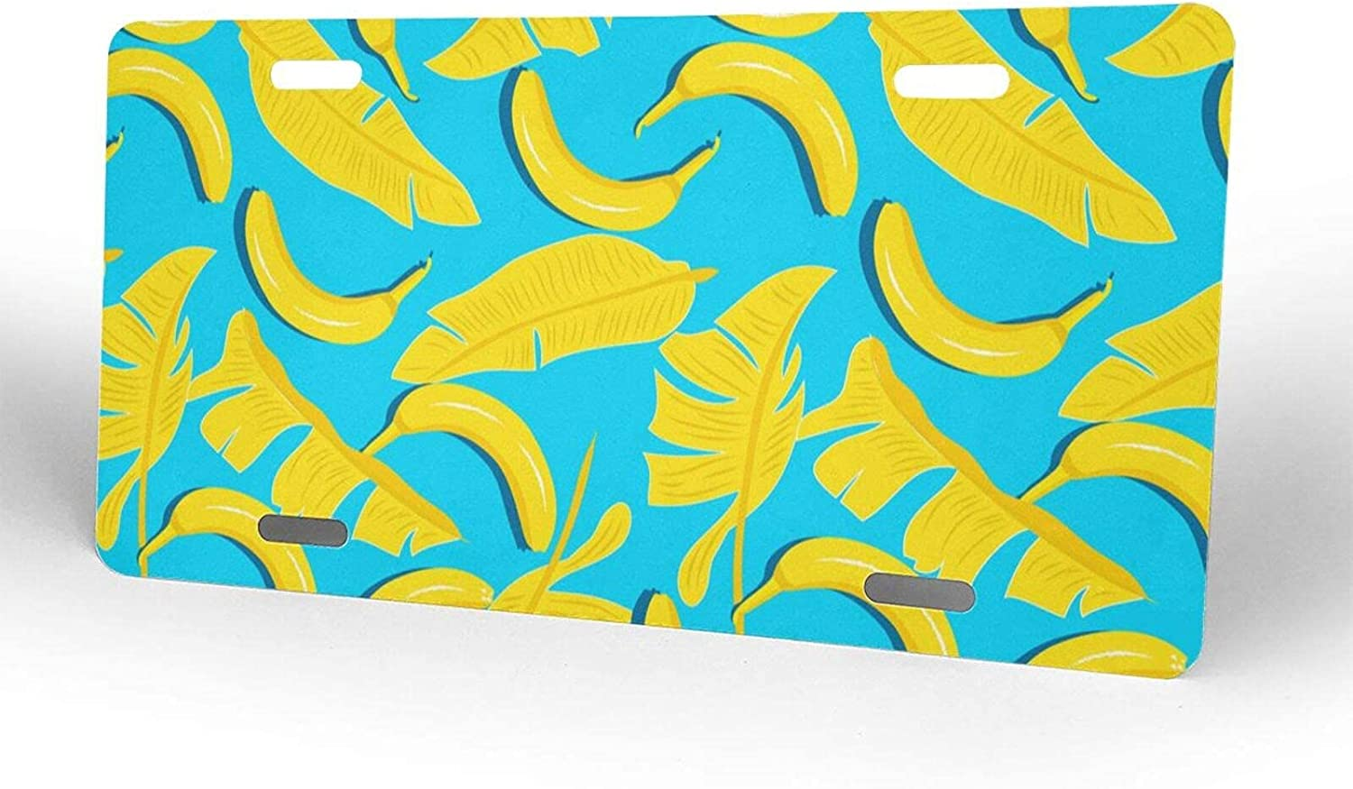 Banana Leaves License Plate Metal Japan Maker New Max 90% OFF Cover fo Novelty