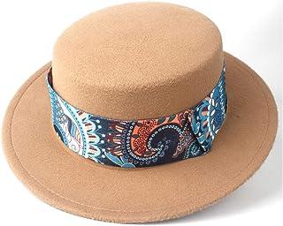 Outing Hat حجم 56-5. 8CM. أزياء الرجال النساء شقة الأعلى فيدورا قبعة واسعة بريم قبعة كنيسة حزب قبعة الشتاء في الهواء الطلق...