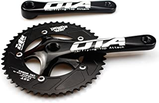 FOMTOR Fixie Crankset 44T/48T 130mm BCD Single Speed Fixed Gear Track Bicycle Crankset Fixie Crank Set 170mm Crank Arms