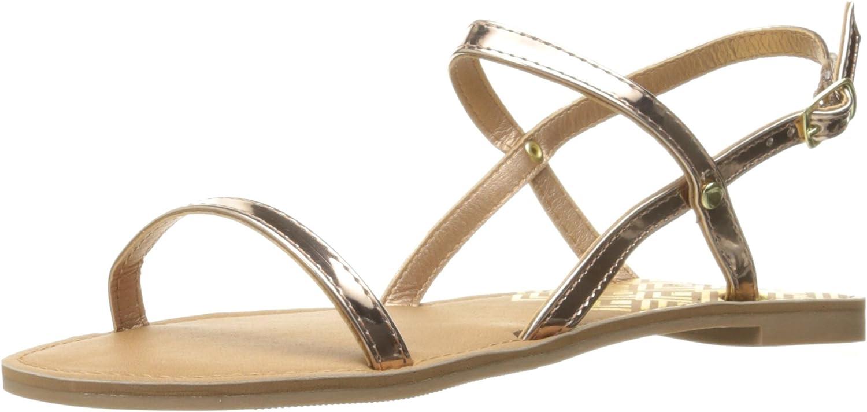 Qupid Womens Athena-1001ax Flat Sandal