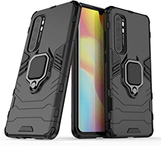 2ndSpring Case for Xiaomi Mi Note 10 Lite,Hybrid Heavy Duty Protection Shockproof Defender Kickstand Armor Case Cover,Black