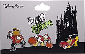 Disney Parks Tower of Terror Pin Set of 3 The Twilight Zone Hollywood Hotel Pins