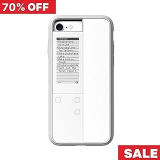 【Oaxis 】 Inkcase IVY for iPhone 7/8 ケース アイフォンケース スマホケース スマホカバー 防水防塵 耐衝撃 時計 日時 リマインダー 壁紙 電子書籍 電子ブック リーダー E-reader ホワイト