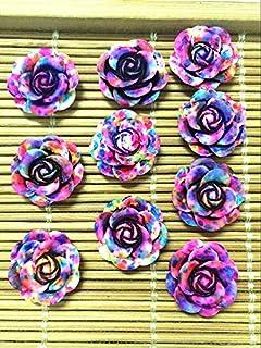 hot 20pcs MIX Resin Rose Flower flatback Appliques For phone//wedding//crafts