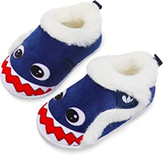 Sponsored Ad - JIASUQI Kids Girls Boys Winter Warm Cozy Plush House Slippers Shoes Toddlers Fur Walking Shoes
