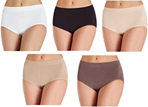 Carole Hochman Ladies' Seamless, Stay in Place Brief, Full Coverage, 5 Pack